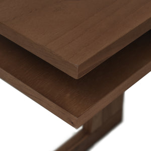 Natural Look of Brown Finish for Leroy C Table