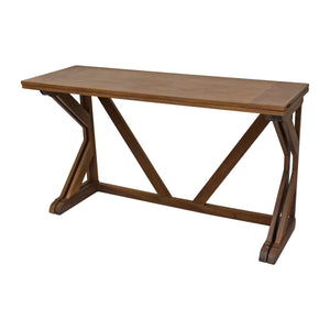Rustic Natural Brown Console to Dining Table from Hopper Studio