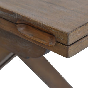 Attractive Rustic Finish of Louise Convertible Console to Dining Table