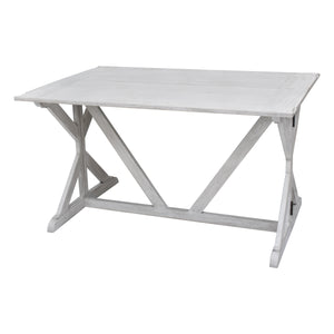 White Louise Convertible Console to Dining Table