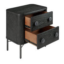 Load image into Gallery viewer, Hopper Studio Milan  2 Drawer Nightstand -Antique Black
