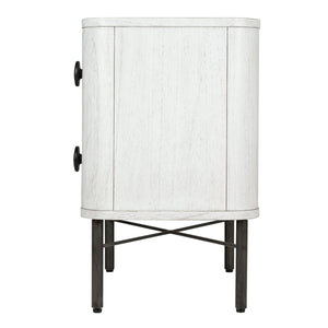 Milan 2 Drawer Nightstand - Cloud White
