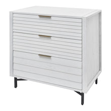 Load image into Gallery viewer, White Portland 3 Drawer Chest from Hopper Studio