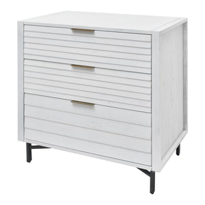 White Portland 3 Drawer Chest from Hopper Studio
