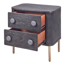 Load image into Gallery viewer, Hopper Studio Rho  2 Drawer Nightstand - Antique Black