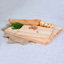 Load image into Gallery viewer, Solid Long Grain Rubberwood Cutting Board Set of Two