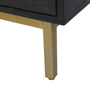 Beautiful Gold Legs and Base on Sophia 3 Drawer Chest