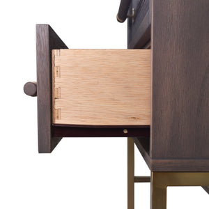 Solid Drawer Construction of Sophia 2 Drawer Nightstand