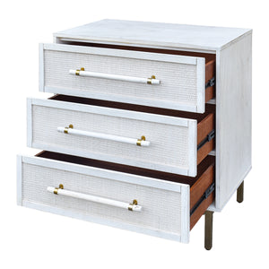 Sophia 3 Drawer Chest - Antique White