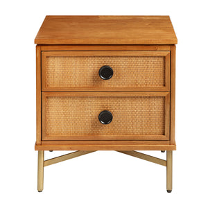 Swan 2 Drawer Nightstand