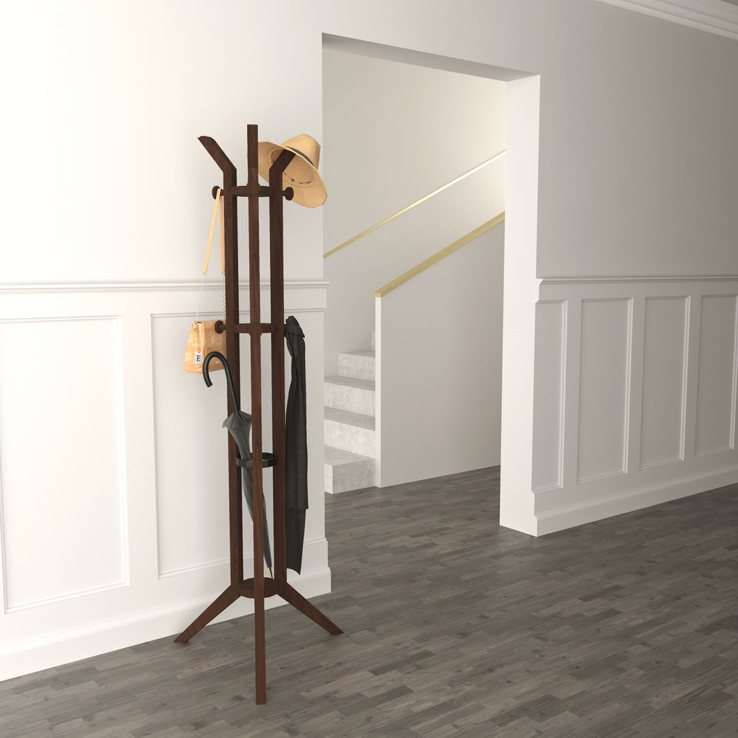 Multi-Functional Mid-Century Design of Jones Entryway Coatrack