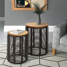 Load image into Gallery viewer, Perry 2 Piece Nested Table Set Ships Fully Assembled and is Ready for Your Space