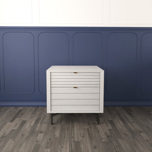 Example of White Portland 2 Drawer Nightstand