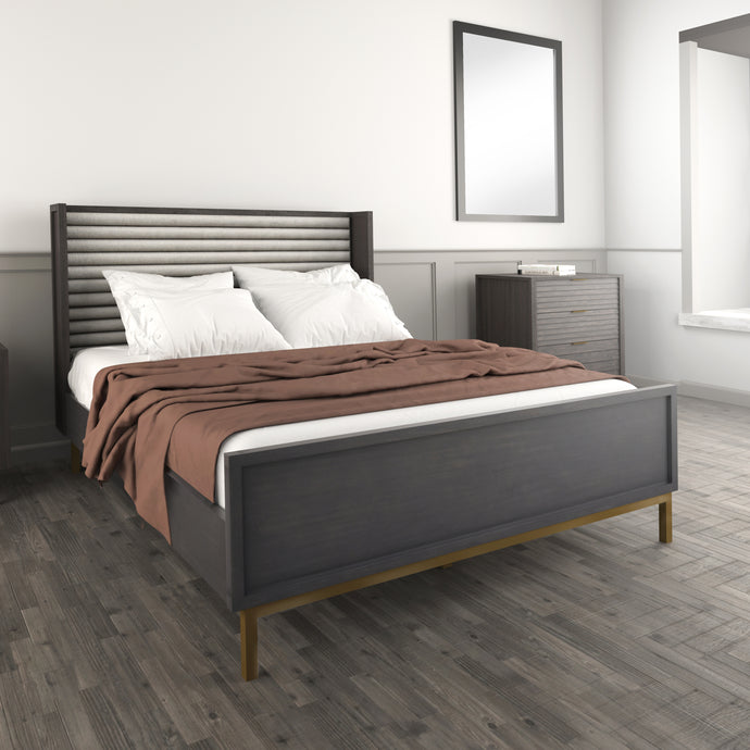 Portland Grey Queen Bed