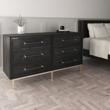 Load image into Gallery viewer, Sophia 6 Drawer Dresser with Matte Black Finish