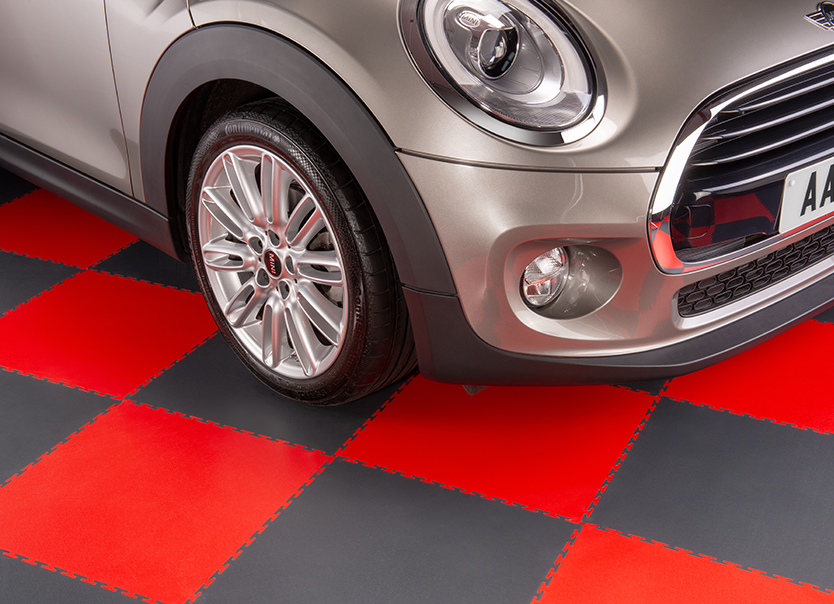 Mini On Garage Flooring from The Garage Floor Tile Company
