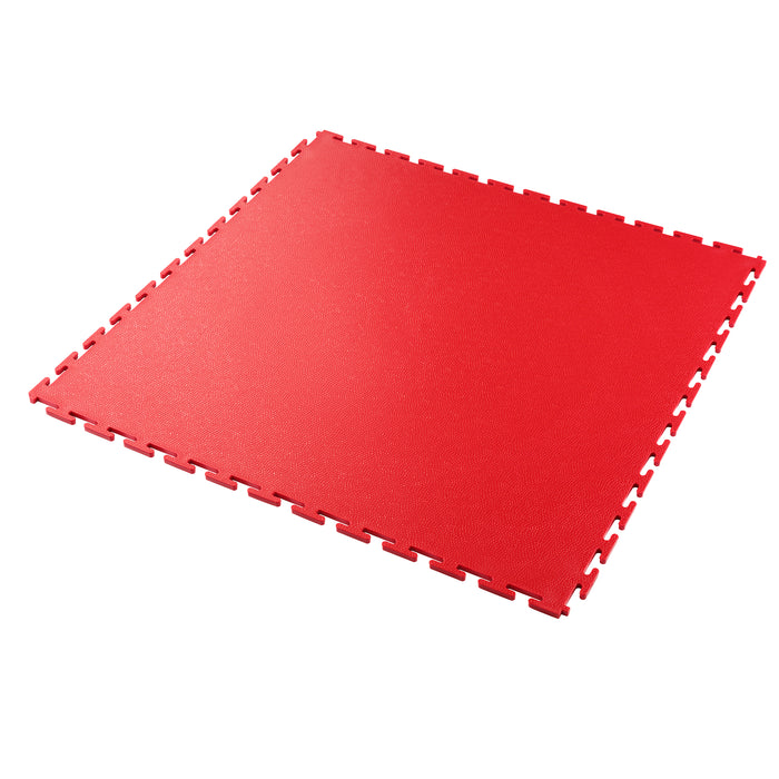 Garage Flooring Tile In Red