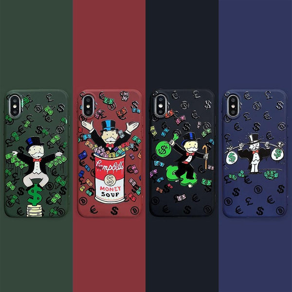Trendy Luxury Cartoon iPhone Case