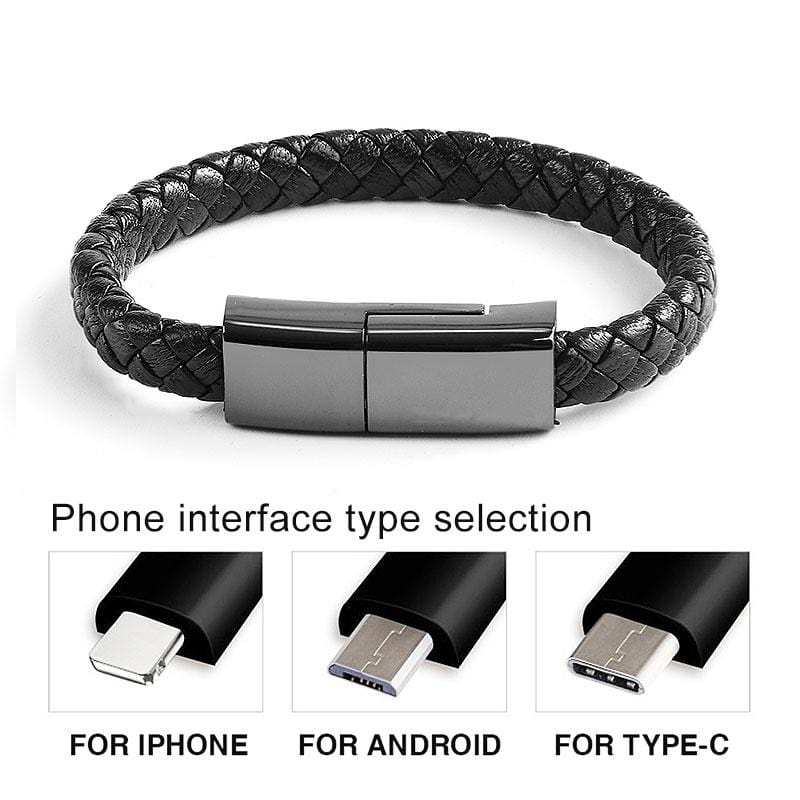 Envy Executive Leather Phone Charge Bracelet