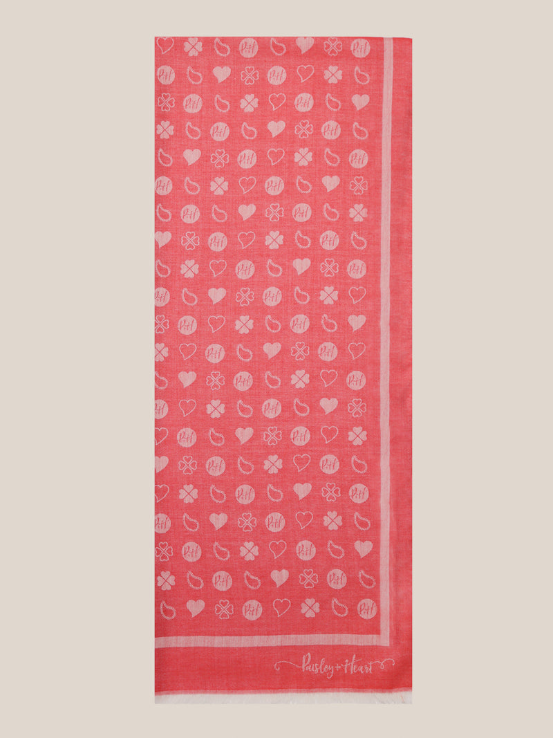 Oblong Wrap - Red