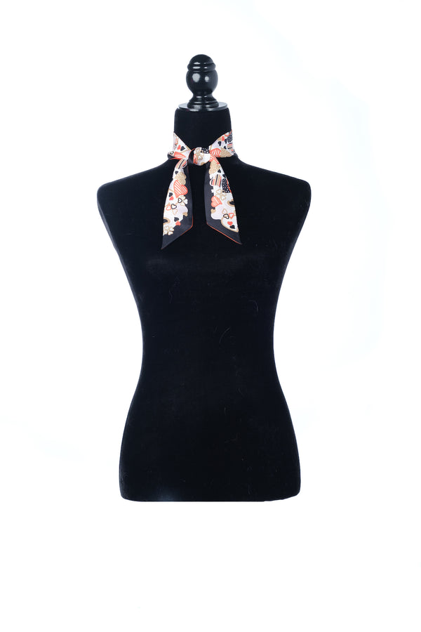 petite twilly scarf black