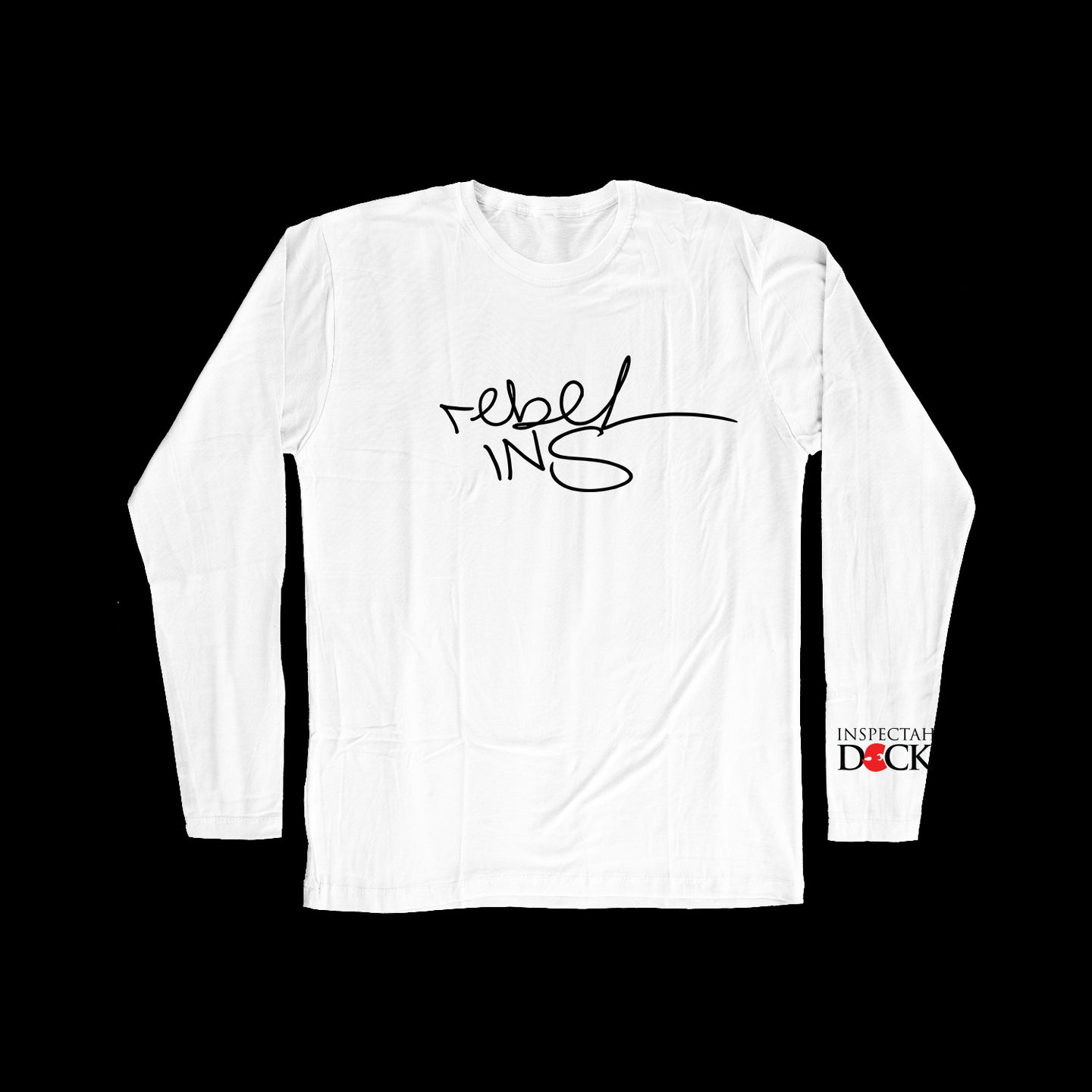 REBEL INS SIGNATURE LONG SLEEVE T-SHIRT-WHITE