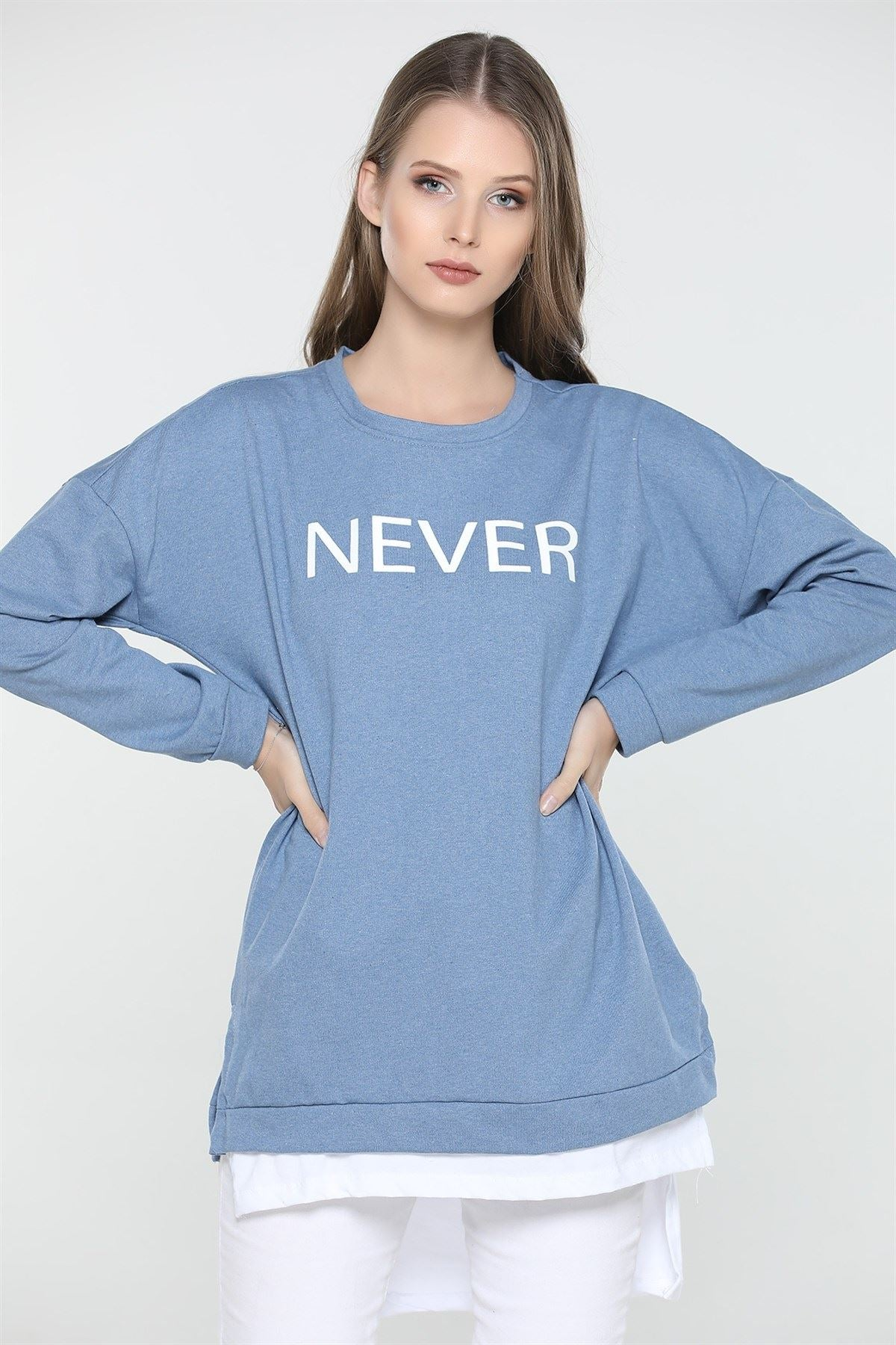 Women's Long Sleeves Printed Sweatshirt