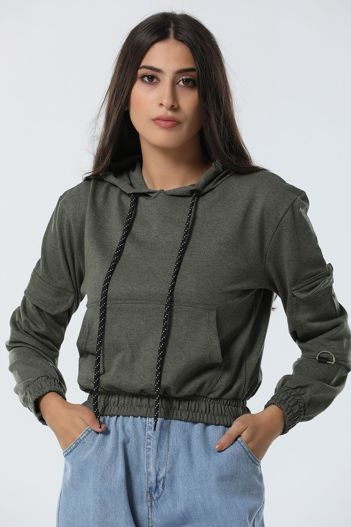 Women's Pocket Crop Sweatshirt