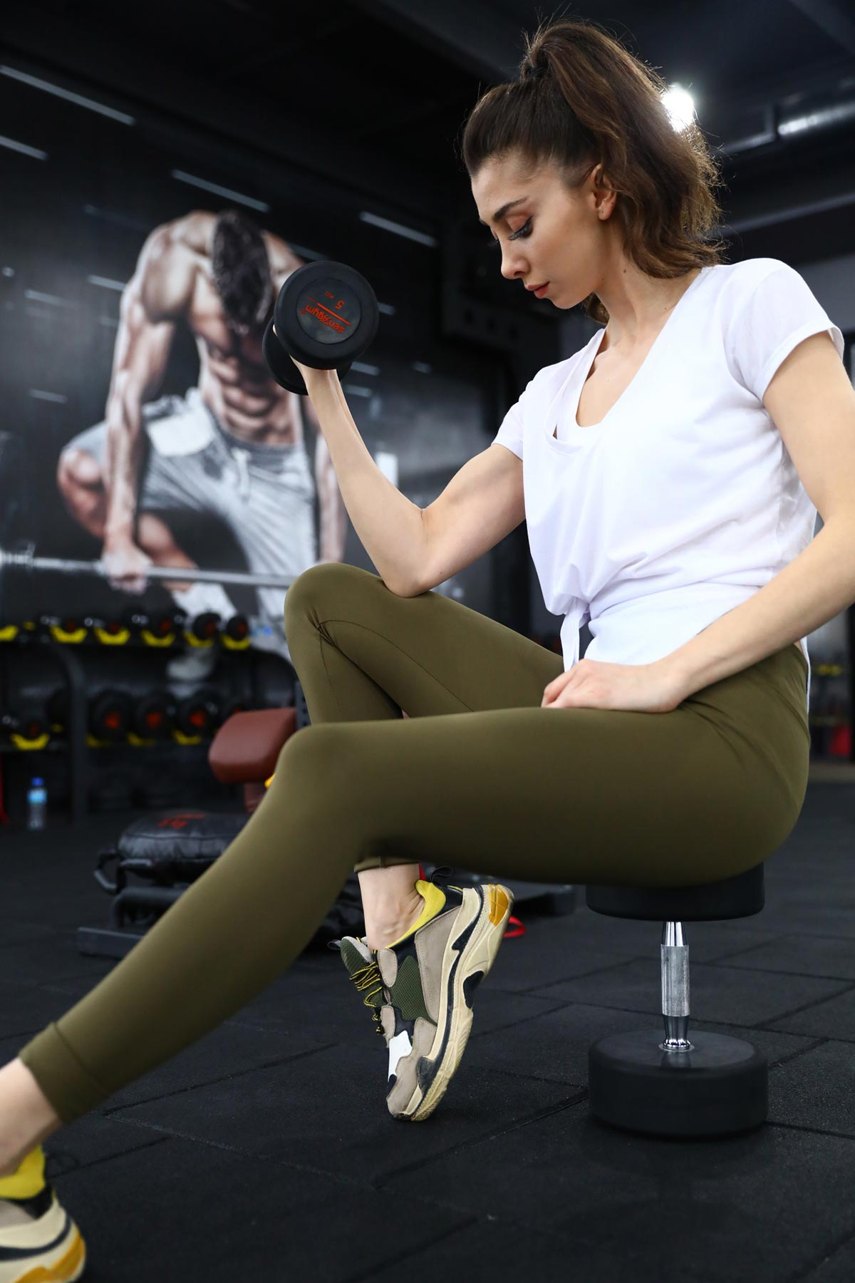 Women's Long Khaki Tights