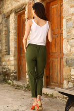 Load image into Gallery viewer, Women's Elastic Waist Khaki Pants