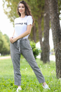 Women's Grey Grizzled Pants