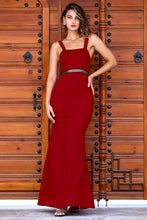 Load image into Gallery viewer, Women's Fish Model Red Evening Dress
