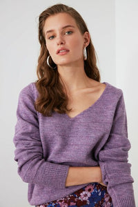 Women's Knit Lilac Tricot Sweater