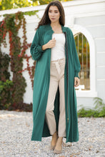 Load image into Gallery viewer, Women's Zipped Green Long Jacket