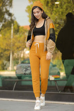 Load image into Gallery viewer, Women's Lace-up Waist Mustard Rib Pants