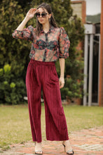 Load image into Gallery viewer, Women's Dark Red Velvet Pants