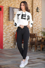 Load image into Gallery viewer, Women's Elastic Waist Black Sweatpants