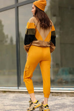 Load image into Gallery viewer, Women's Elastic Legs Mustard Cargo Pants