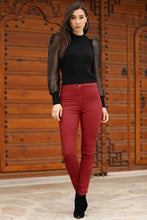 Load image into Gallery viewer, Women's Pocket Red Pants