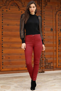 Women's Pocket Red Pants