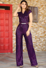 Load image into Gallery viewer, Women's Sequin Purple Overall