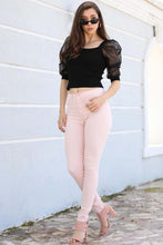 Load image into Gallery viewer, Women's High Waist Powder Rose Pants