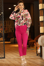 Load image into Gallery viewer, Women's Pocket Fuchsia Pants