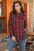 Load image into Gallery viewer, Women's Banded Waist Patterned Jacket & Coat