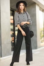 Load image into Gallery viewer, Women's Black Wide Leg Jeans