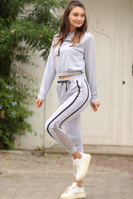 Load image into Gallery viewer, Women's Filet Detail Grey Sweatpants