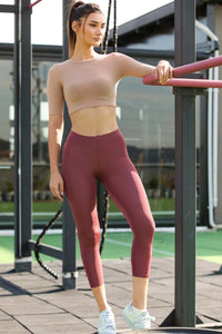Women's Basic Dusty Rose Leggings