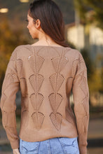 Load image into Gallery viewer, Women's Long Sleeve Beige Sweater