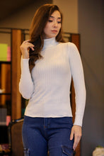 Load image into Gallery viewer, Turtleneck Ecru Tricot Pullover