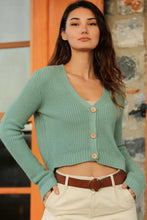Load image into Gallery viewer, Women's Almond Green Cardigan